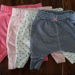Preemie Girls Pants (4 pack)